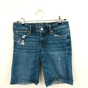American Eagle Cut Off Denim Bermuda Shorts